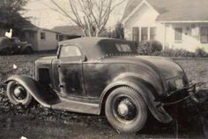 Full fender 1932 Ford; bop top and side curtains
