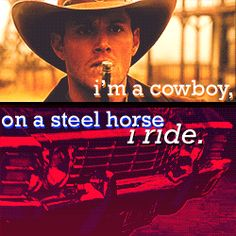 Dean Winchester episode Frontierland when he went back in time to the old west and Baby his 1967 Chevy Impala