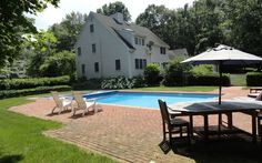 43 Brook Farm Road Bedford, NY 10506 is for sale. An absolutely beautiful center hall colonial on wonderful level land with an in-ground heated pool. Real Estate, York, Outdoor Decor, Beautiful, Real Estates