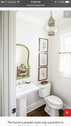Artwork above toilet