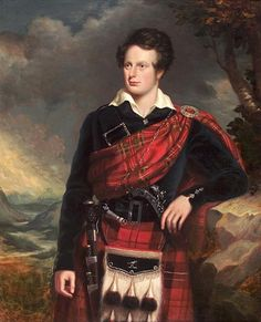 View Three quarter length portrait of John Ramsay lAmy of Dunkenny in Highland dress, before an extensive landscape by Scottish School 19 on artnet. Browse upcoming and past auction lots by Scottish School Scottish Dress, Scottish Clothing, Scottish Fashion, Aberdeen Art Gallery, Scotland History, The Bonnie, Sam Heughan Outlander, Scottish Clans, Irish Traditions