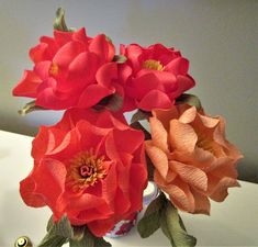 Paper flowers made from 180 gsm italian crepe paper flower crepe paper peonies mightylinksfo