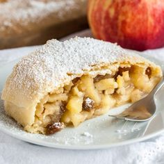 Traditional Apple Strudel with its flaky crust and spiced apple filling is much easier to make from scratch than you think!