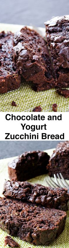 Very moist chocolate bread loaded with zucchini. Noone can tell there is zucchini inside. Video included!