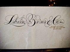 Herb Lubalin, typography, type, script, lettering