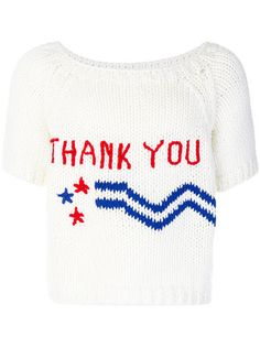 Raf Simons Thank You knitted T-shirt