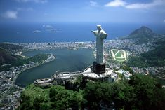 Christ the Redeemer:        The 130-foot tall statue of Jesus Christ in Rio de Janeiro, Brazil, stands atop the peak of the Corcovado Mountains, overlooking the city. Construction began in 1922 and was completed in 1931.