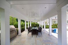 Outdoor Kitchen Pavillion. Outdoor Kitchen Pavillion Ideas. Covered outdoor kitchen. Blue Water Home Builders.