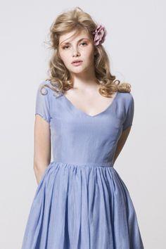 Sky Blue Batiste Dress