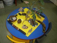 Aboriginal artefacts play table