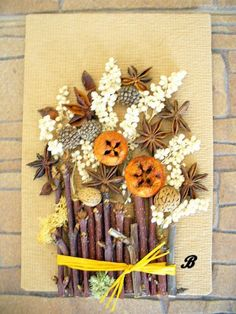 obrázek z přírodnin Autumn Leaves Craft, Autumn Crafts, Nature Crafts, Decor Crafts, Diy And Crafts, Crafts For Kids, Arts And Crafts, Art Activities For Kids, Art For Kids