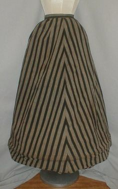 RARE 1850 1860 Stripe Cotton Hoop Cage Museum de Accessioned   eBay