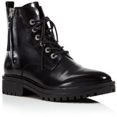 Kendall and Kylie Jordana Lace Up Combat Booties (515 PEN) ❤ liked on Polyvore featuring shoes, boots, ankle booties, black, laced up boots, combat booties, black lace up booties, military boots and black military boots