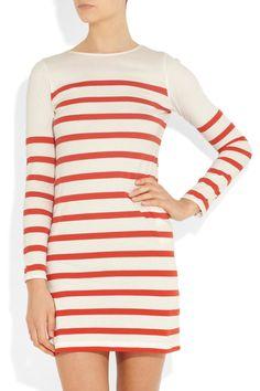 Chinti and Parker  Striped organic cotton mini dress