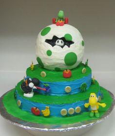 Yoshi's Story Egg and Landscape Cake