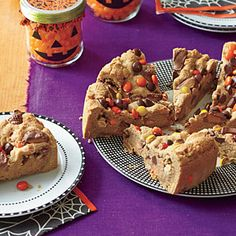 Peanut Butter-Chocolate Chunk Blondies Recipe | MyRecipes.com Mobile