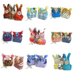 Cute lavender scented Owls and Rabbits on @folksy #uk #handmade in #vintage fabric https://folksy.com/shops/WittyDawn fab #Christmas presents!