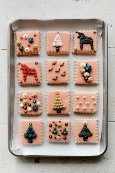 """glazed sugar cookies with buttercream """"embroidery"""" — molly yeh - Welcome to our website, We hope you are satisfied with th - # Christmas Treats To Make, Noel Christmas, Merry Little Christmas, Holiday Treats, Christmas Cookies, Xmas, Christmas Biscuits, Swedish Christmas, Christmas Crafts"""