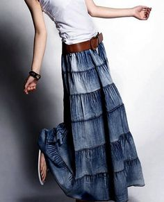 I love this skirt!!!! The wide belt looks awesome with it, too!!!