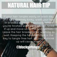 Natural Hair Tip courtesy of @blackgirlstips Natural Hair Regimen, Natural Hair Care Tips, Natural Haircare, Natural Hair Growth, Natural Hair Journey, Natural Hair Styles, Black Hair Tips, Black Hair Care, Pelo Natural