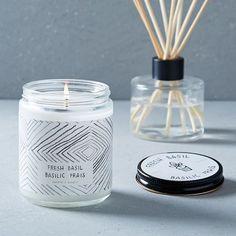 Café Scented Candle + Diffuser - Fresh Basil | west elm