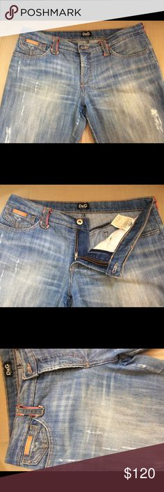 D&G Dolce&Gabbana Jeans 100% Authentic D&G Dolce&Gabbana Bootcut  Distressed Jeans. Size 28/42. Made in Italy. Light wash. Distressed. Preloved. Have been shortened. Please ask for measurements. Dolce & Gabbana Jeans Boot Cut