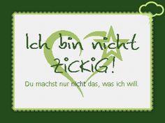 2468 Stickvorlage Kreuzstich Ich bin nicht ZICKIG!