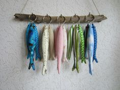 Sardinen Fische Schlüsselring,Taschenbaumler,Schlüssel,maritim,Landhaus,Tilda