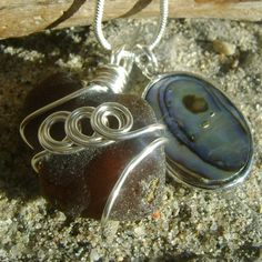 Items similar to Handmade Seaglass Jewelry: Seaglass Abalone Necklace on Etsy Sea Glass Jewelry, Cuff Bracelets, Unique Jewelry, Handmade Gifts, Stuff To Buy, Etsy, Vintage, Kid Craft Gifts, Craft Gifts