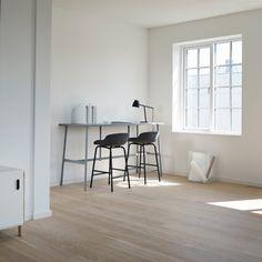 Hyg Barstool 65 cm Full Upholstery Steel Grey/Main Line Flax Decoration, Bar Stools, Upholstery, Office Supplies, Steel, Chair, Copenhagen, Table, Joy