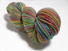 handspun sock yarn rainbow by merlinthecat on etsy 3800 - Coloring Book Yarns