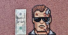 I did this Terminator in Perler bead form based off of a pixel from 8 Bit Avatar .
