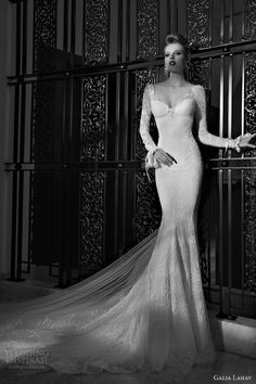 galia lahav 2015 tales of jazz age 2 eleanor long sleeve sheath #wedding dress #longsleeveweddingdress #weddings