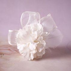 Pince à cheveux Bridal fleur de soie casque  clip par ElfBridal