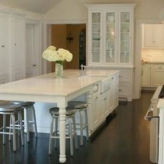 Traditional kitchen with large island table kitchen marble kitchen island traditional kitchen west end cabinet company workwithnaturefo