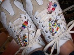 friendship beads...this one is way more fun with the shoes showing how they were worn