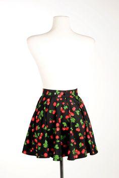 Swim Skirt in Black Cherry - Plus Size