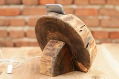 Hölzerne iPhone 6 s Docking Station Holz iPhone 6 von WoodRestart