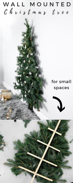 Here's a fun and easy Christmas tree you can make if you're in a small space. perfect for bedroom decor as well! :D