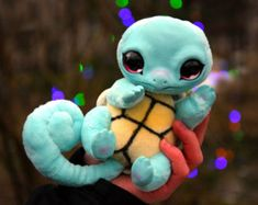 Squirtle by GakmanCreatures on Etsy Cute Fantasy Creatures, Magical Creatures, Cute Pikachu, Cute Pokemon, Baby Animals Pictures, Cute Baby Animals, Pokemon Dolls, Cute Dragons, Cute Toys