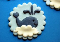 Whale Cupcake or Cookie Toppers Chocolate by PiccoliniConfections
