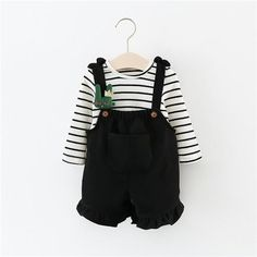 7886ff641a9 Soft Overalls   Long Sleeve 2 Piece Outfit for 6 - 24 Months. lil giggles  baby supply