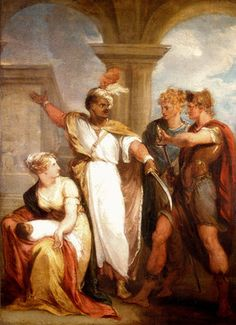 Titus Andronicus, Act IV, Sc. ii, Aaron the Moor, Demetrius, Nurse and Child by Thomas Kirk  http://www.magnoliabox.com/art/528038/Titus_Andronicus_Act_IV_Sc_ii_Aaron_the_Moor_Demetrius_Nurse_and