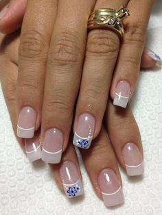 Ombre french manicure coffin art ideas new ideas Manicure Nail Designs, Nail Manicure, Nail Gel, Nails Design, Glitter Tip Nails, Gold Nails, French Nails, Cute Nails, Pretty Nails