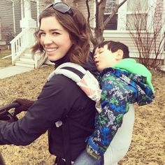 """Jude was too tired on the walk home and wanted to """"ride in the piggy-backer"""". He passed out! And I enjoyed the rare event.💕(Super comfy in my Tula!) He's almost 3 😭 where's my baby gone. My Beauty, Baby Wearing, Tired, Comfy, Couple Photos, Couples, Couple Shots, Babywearing, Couple"""