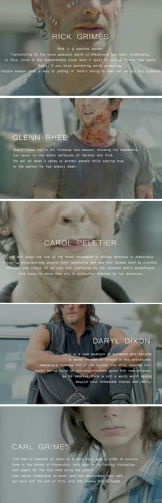 *CARL GRIMES: **annoying little brat who shouldn't be on the show and should be killed on the show instead of Hershel:)** WHAT I THINK IT SHOULD HAVE SAID^<<< tbh I don't think he's that bad<<< the Atlanta Five