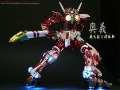 RG Real Grade Astray Red Frame Gundam Custom Build with LED Light By Aaron Liu