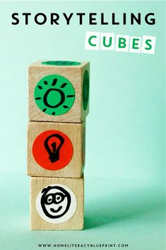 DIY Storytelling Cubes: 10 ways to build literacy and creativity through storytelling. Literacy Skills, Literacy Activities, Activities For Kids, Language Activities, Early Literacy, Writing Lesson Plans, Writing Lessons, Art Lessons, Story Cubes