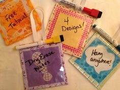 Dry Erase Hanging Notes  project on Craftsy.com