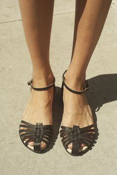 Wish list :) While I do feel most confident in heels, a fresh pair of flat sandals is a must-have for a woman on the go. On hot summer days when I am running lots of errands I will wear kicks like these so that I can be chic but still comfortable.